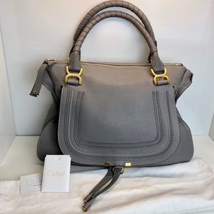 Chloe Marcie Large Satchel Cashmere Gray